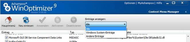 WinOptimizer cmm.zoom80 Kontextmenü Manager