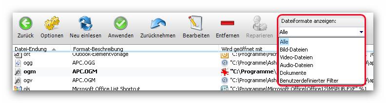 WinOptimizer datform File Associator