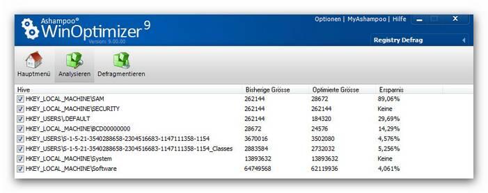 WinOptimizer regdev2.zoom80 Registry Defrag