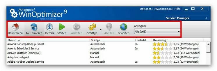 WinOptimizer servicem2.zoom85 Service Manager