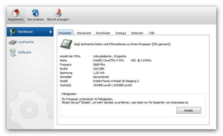 WinOptimizer si.zoom90 System Informationen