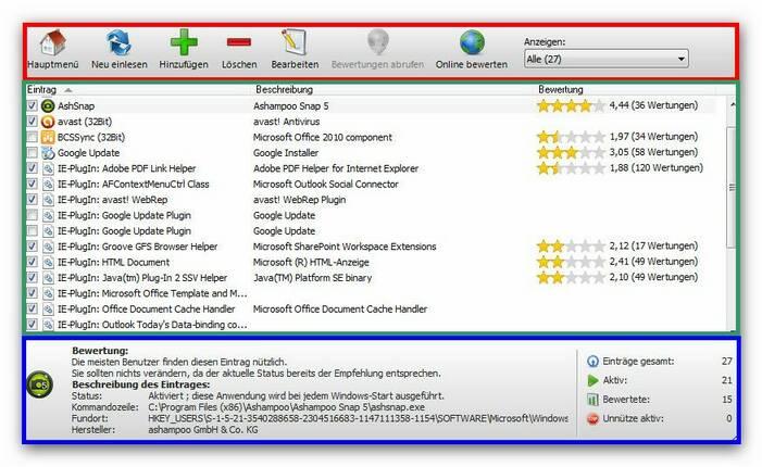 WinOptimizer using.zoom80 Das Programm benutzen