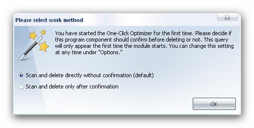 WinOptimizer oneclickstart Procedure