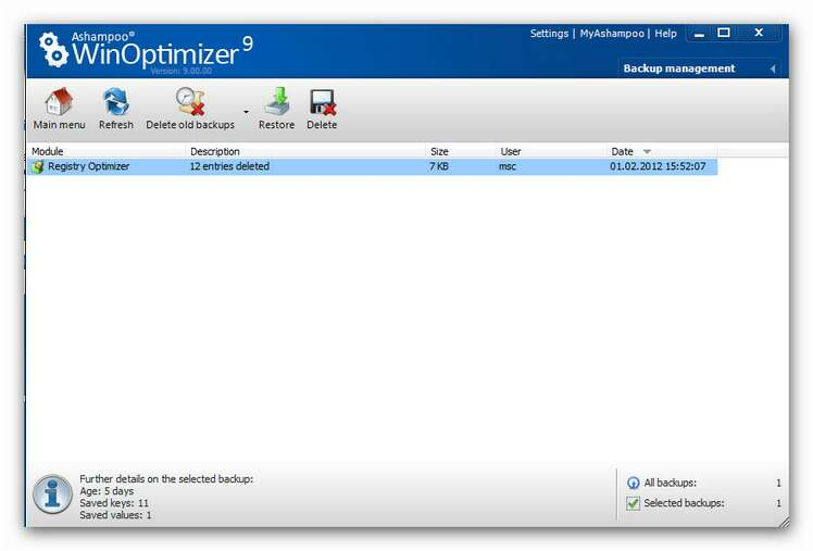 WinOptimizer wo9 backups2.zoom85 Backups