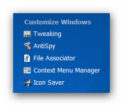 WinOptimizer wo9 customize Customize Windows