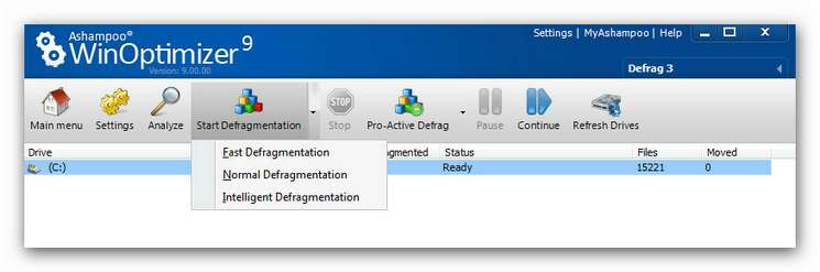 WinOptimizer wo9 defrag 2.zoom85 Defragmentation Methods