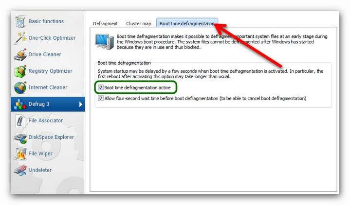 WinOptimizer wo9 defrag settings 2.zoom85 Boot Time Defragmentation