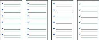 WordPerfect Office bulletlist Creating and applying bulleted lists