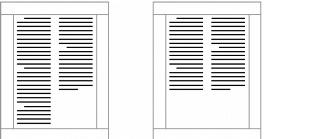 WordPerfect Office c balan Creating and deleting columns