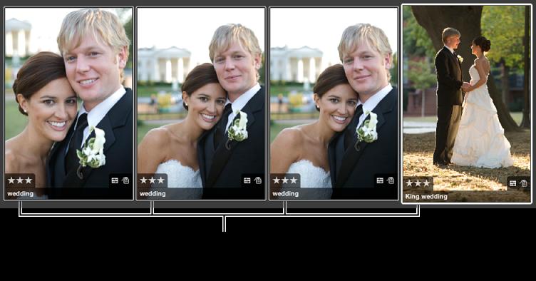 Abbildung. Gruppe von Bildern, auf die die gleiche Wertung angewendet wurde.