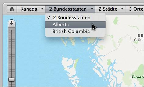 """Abbildung. Navigationspfad für die Aufnahmeorte in der Darstellung """"Orte""""."""