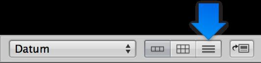 """Abbildung. Taste """"Listendarstellung"""" im Browser."""