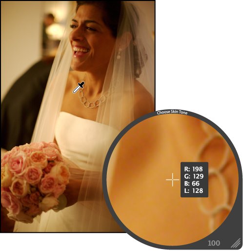 Choosing skin tone with Loupe