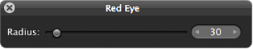 Figure. Controls in the Red Eye HUD.