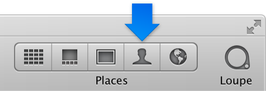 Figure. Faces button in the toolbar.