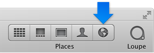 Figure. Places button in the toolbar.