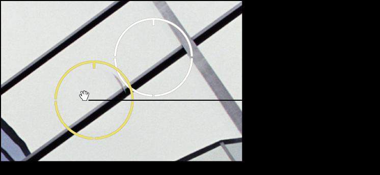 Figure. Image affichant une icône en forme de main apparaissant sur un repère Repérer et corriger pour indiquer que vous pouvez le déplacer.