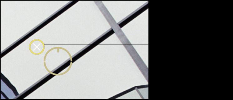 Figure. Image affichant unX blanc apparaissant sur le repère Repérer et corriger pour indiquer que vous pouvez le supprimer.