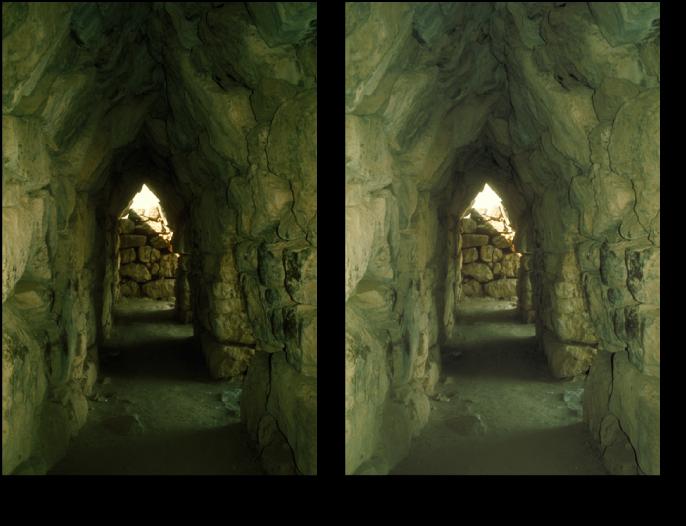 Figure. Image avant et après application d'un ajustement de luminosité.
