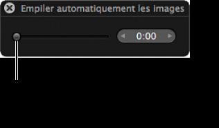 Figure. Palette d'empilement automatique des images.