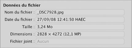 Figure. Fichiers sélectionné dans le navigateur d'importation.