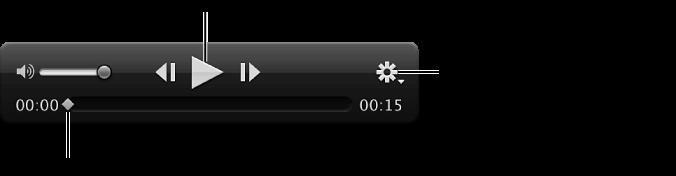 Figure. Commandes du clip vidéo dans le visualiseur.