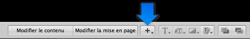 Figure. Menu local «Ajouter une zone» dans l'éditeur de mise en page de livre.