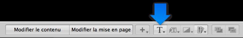Figure. Menu local «Définir le style du texte» dans l'éditeur de mise en page de livre.