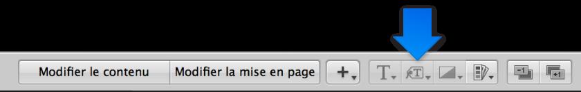 Figure. Menu local «Définir le format des métadonnées» dans l'éditeur de mise en page de livre.