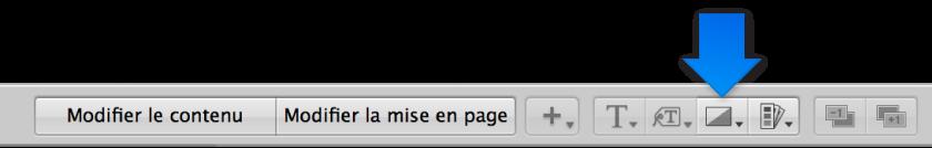 Figure. Menu local «Définir le filtre de la photo» dans l'éditeur de mise en page de livre.