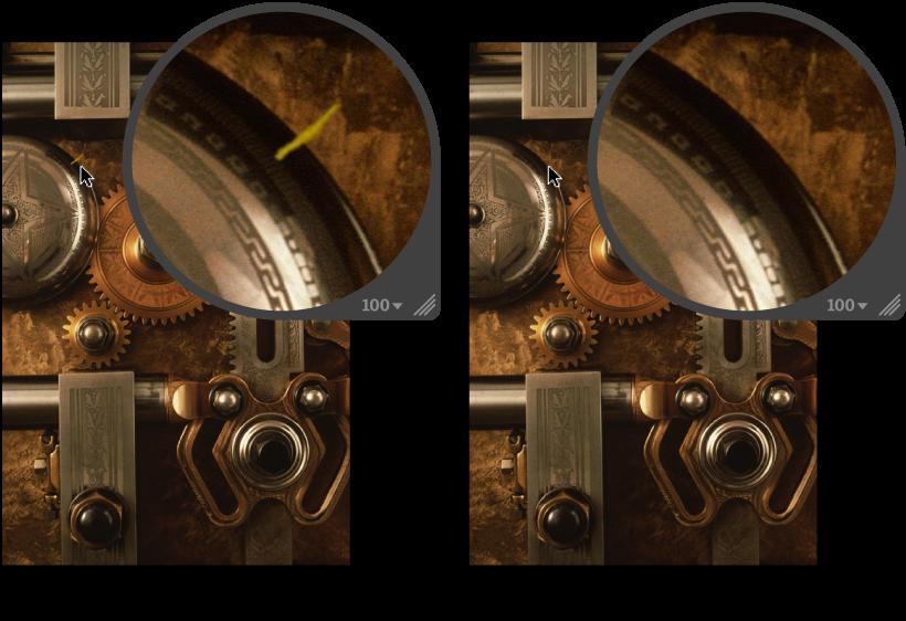 図。 「クローン」調整の前と後のイメージ。