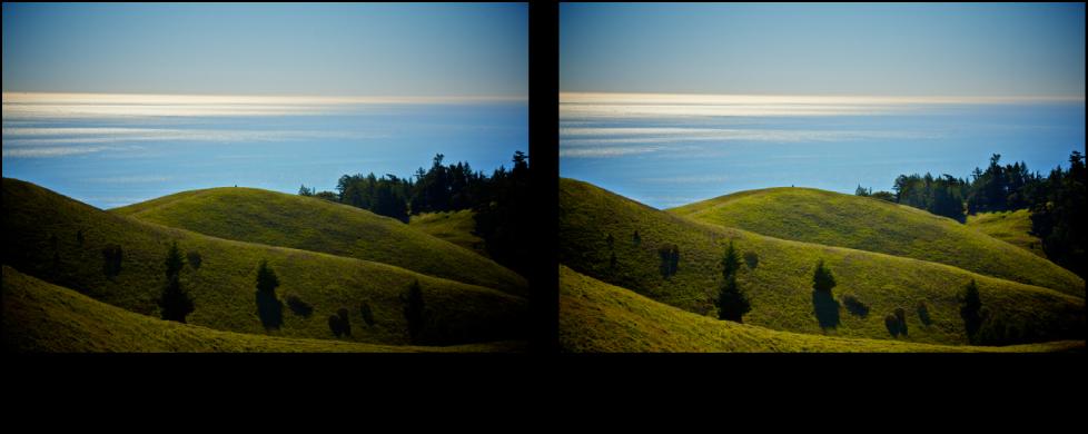 図。 「覆い焼き」クイックブラシ調整の前と後のイメージ。