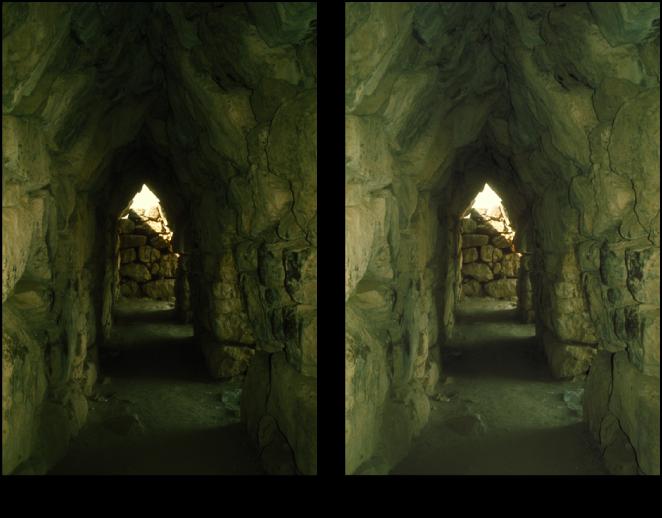 図。 「明るさ」調整の前と後のイメージ。