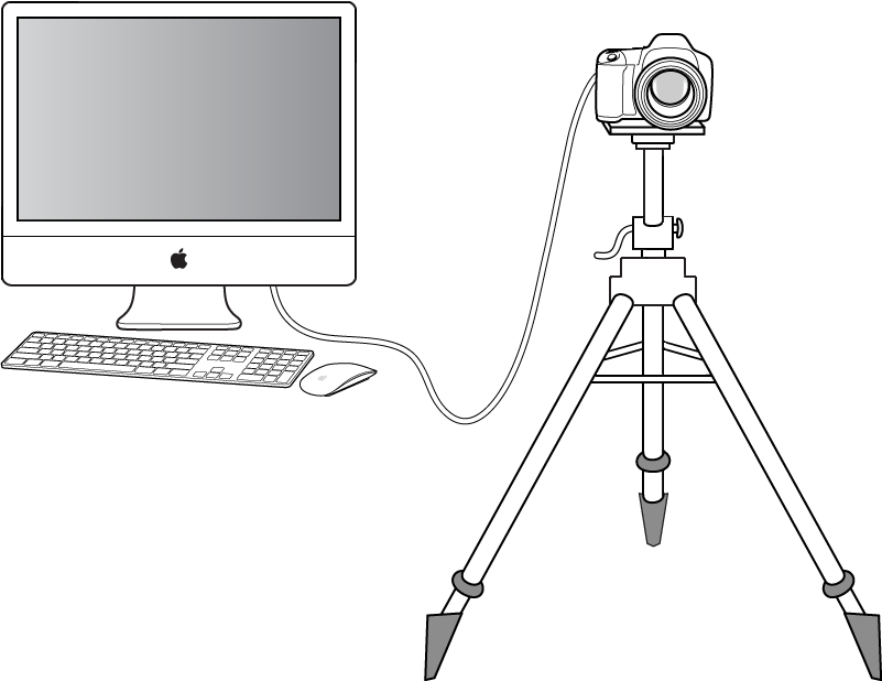 图。 图示为电脑的网络共享数码相机。