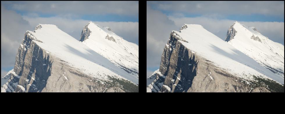 图。 增强对比度快速笔刷调整前后的图像。