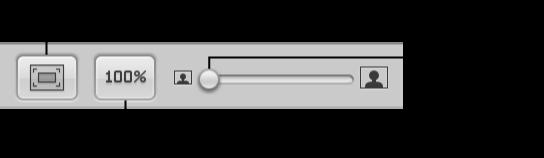 图。 相册布局编辑器中的页面显示控制。