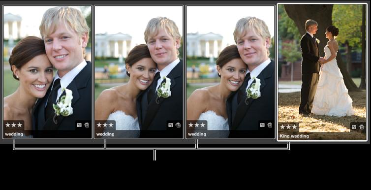 图。 一组应用了相同评分的图像。