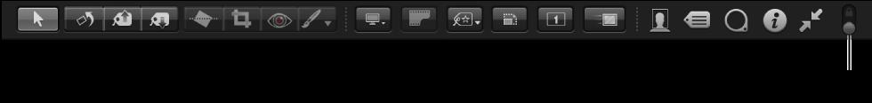 图。 全屏幕视图工具栏中的工具。