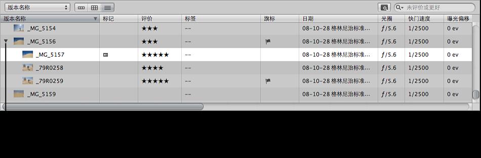 图。 浏览器显示列表视图中的堆栈。