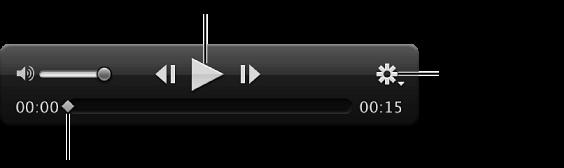图。 检视器中的视频片段控制。