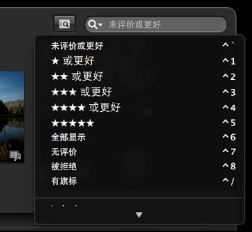 图。 全屏幕视图搜索栏弹出式菜单。