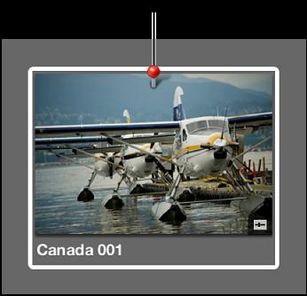 图。 浏览器中缩略图上的位置标记,表示已给图像指定位置信息。
