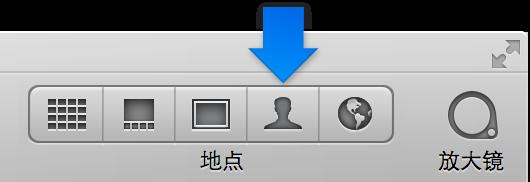 """图。 工具栏中的""""面孔""""按钮。"""