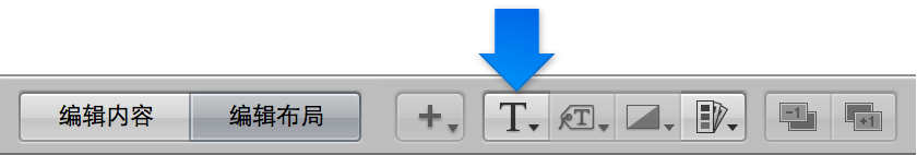 """图。 相册布局编辑器中的""""设定文本样式""""弹出式菜单。"""