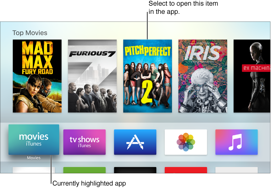 Apple TV Home screen