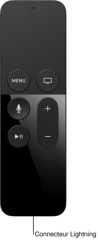 Image de la télécommande avec le connecteur Lightning
