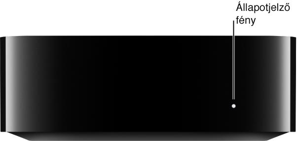Az Apple TV az állapotjelző fénnyel