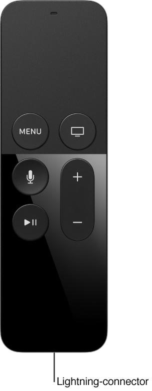 Afbeelding van de afstandsbediening met de Lightning-connector