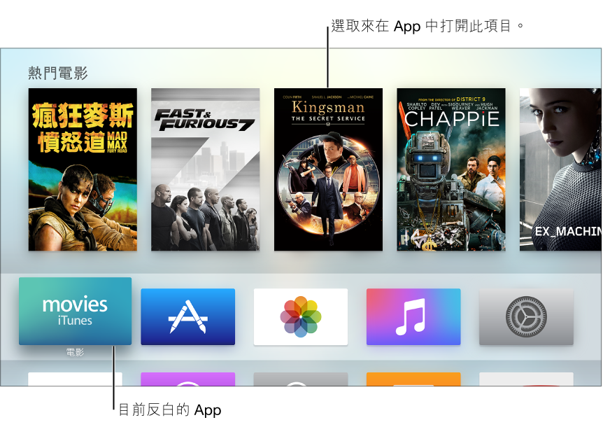 Apple TV 主畫面
