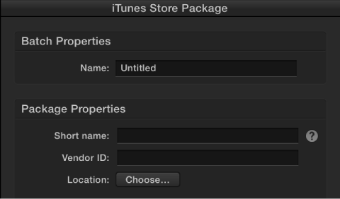 Figure. iTunes Store Package inspector.